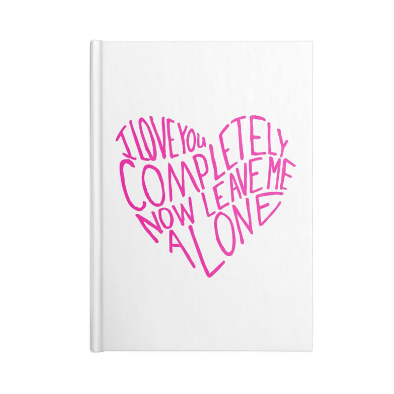 Introvert Love (Pink) Accessories Blank Journal Notebook by Lauren Things Store