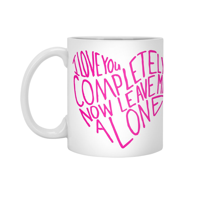 Introvert Love (Pink) in Standard Mug White by Lauren Things Store