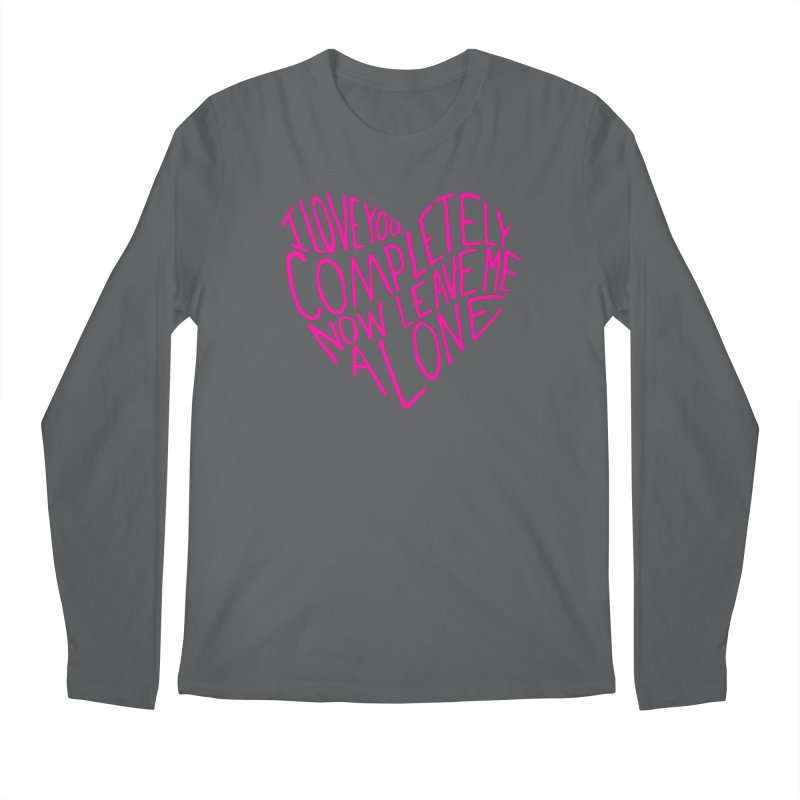 Introvert Love (Pink) Men's Longsleeve T-Shirt by Lauren Things Store