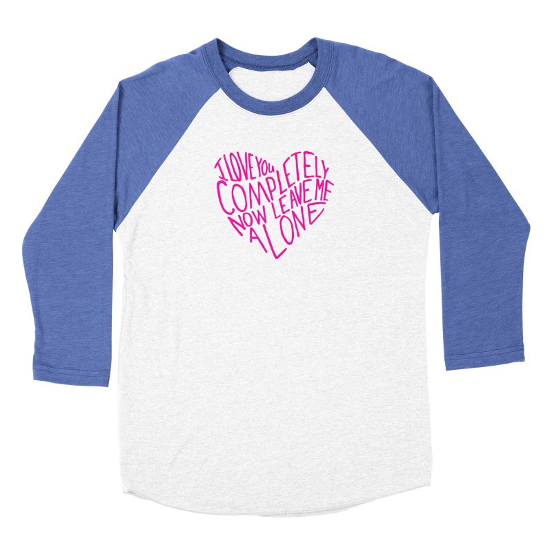 Introvert Love (Pink) Women's Baseball Triblend Longsleeve T-Shirt by Lauren Things Store