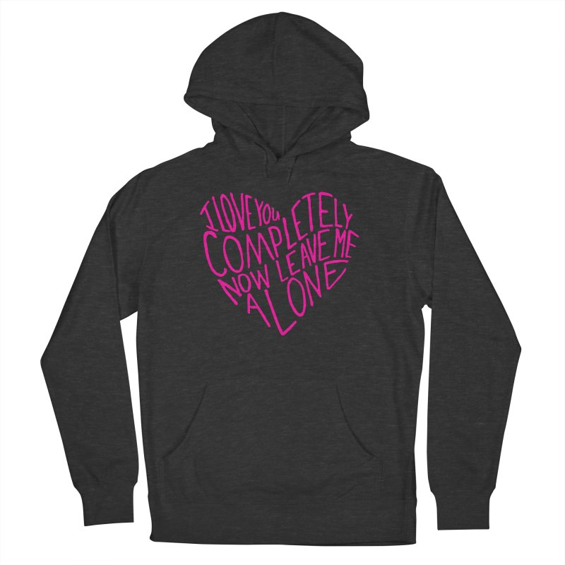 Introvert Love (Pink) Women's French Terry Pullover Hoody by Lauren Things Store