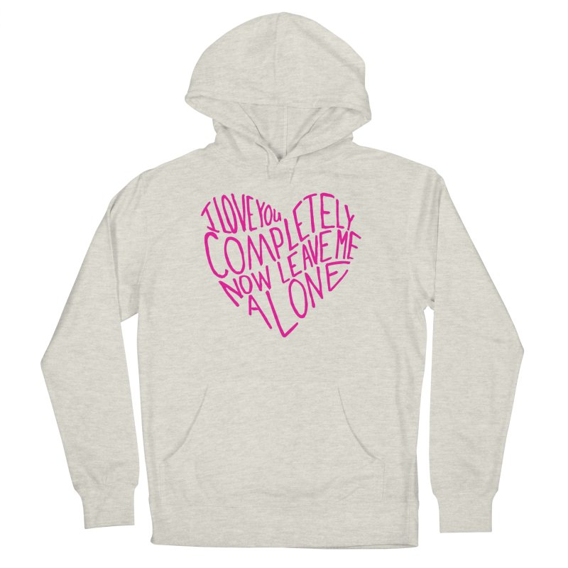 Introvert Love (Pink) Women's Pullover Hoody by Lauren Things Store