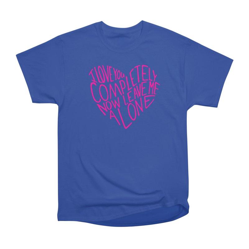 Introvert Love (Pink) Women's Heavyweight Unisex T-Shirt by Lauren Things Store