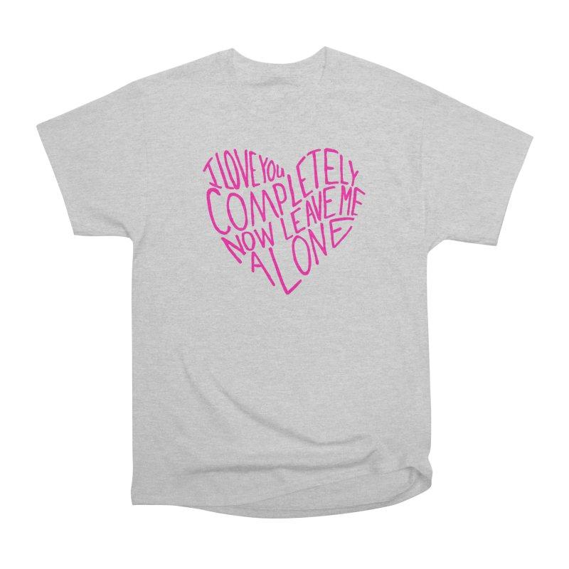 Introvert Love (Pink) Men's Heavyweight T-Shirt by Lauren Things Store