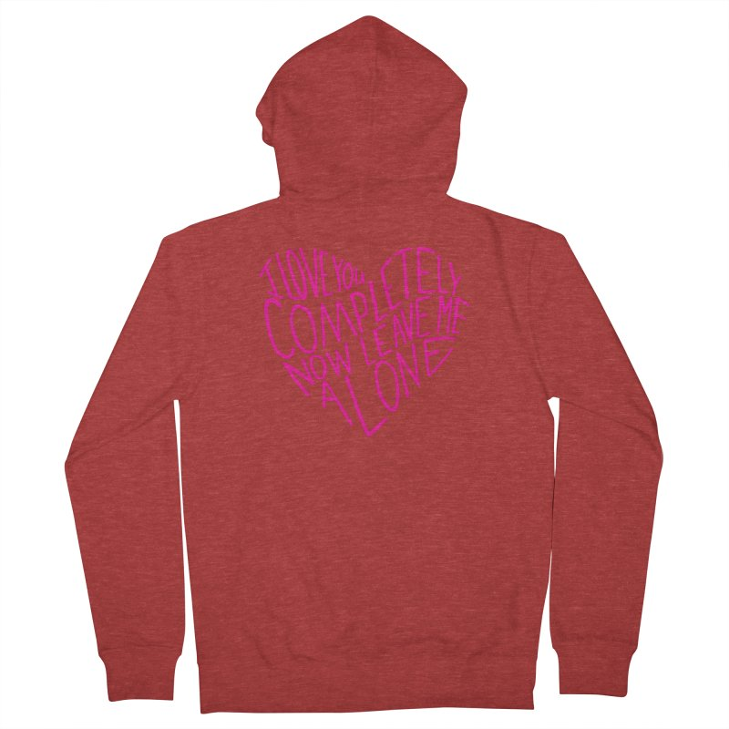 Introvert Love (Pink) Men's French Terry Zip-Up Hoody by Lauren Things Store