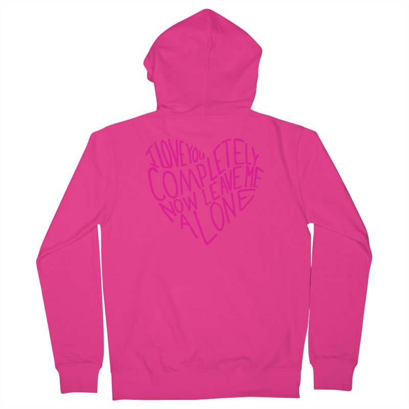 Introvert Love (Pink) Men's Zip-Up Hoody by Lauren Things Store