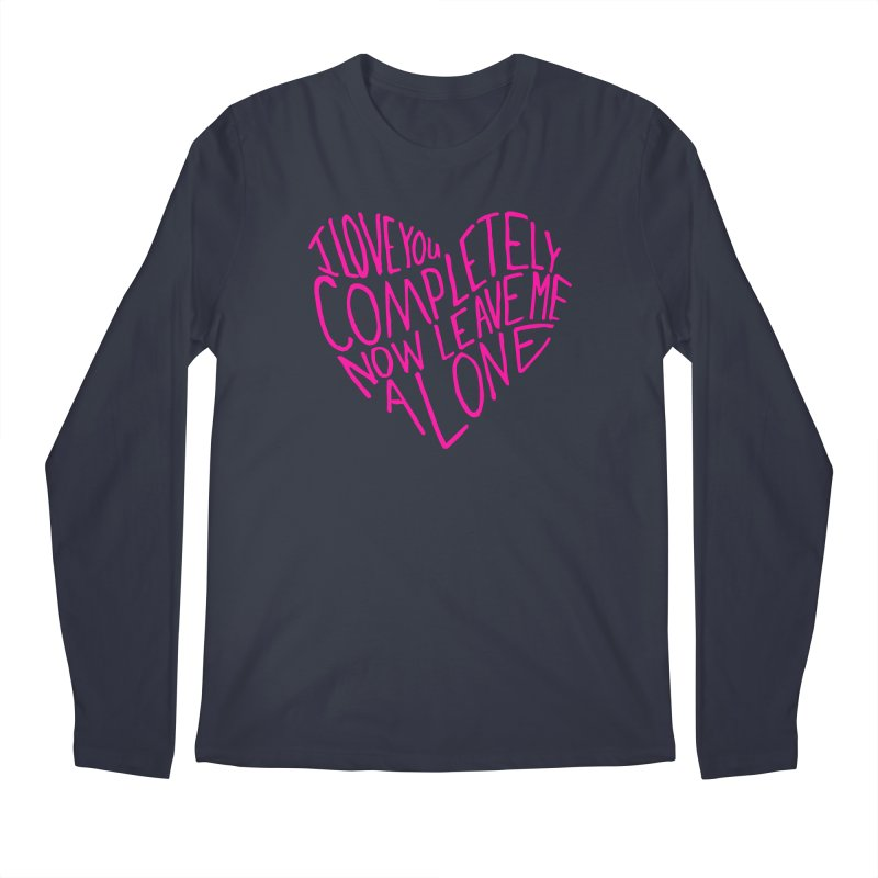 Introvert Love (Pink) Men's Regular Longsleeve T-Shirt by Lauren Things Store