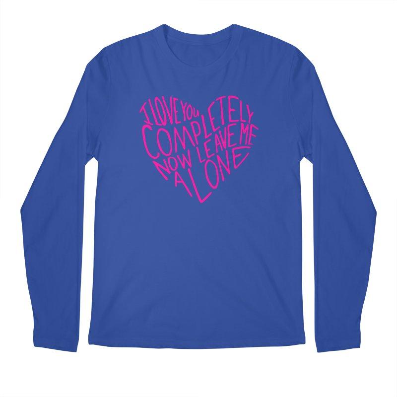 Introvert Love (Pink) Men's Regular Longsleeve T-Shirt by Lauren Things Store