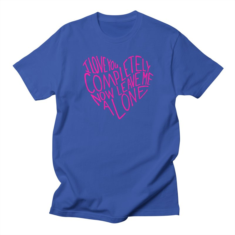 Introvert Love (Pink) Women's Unisex T-Shirt by Lauren Things Store