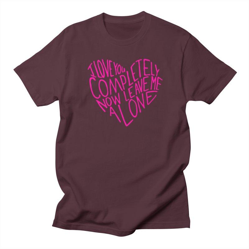 Introvert Love (Pink) Women's Regular Unisex T-Shirt by Lauren Things Store