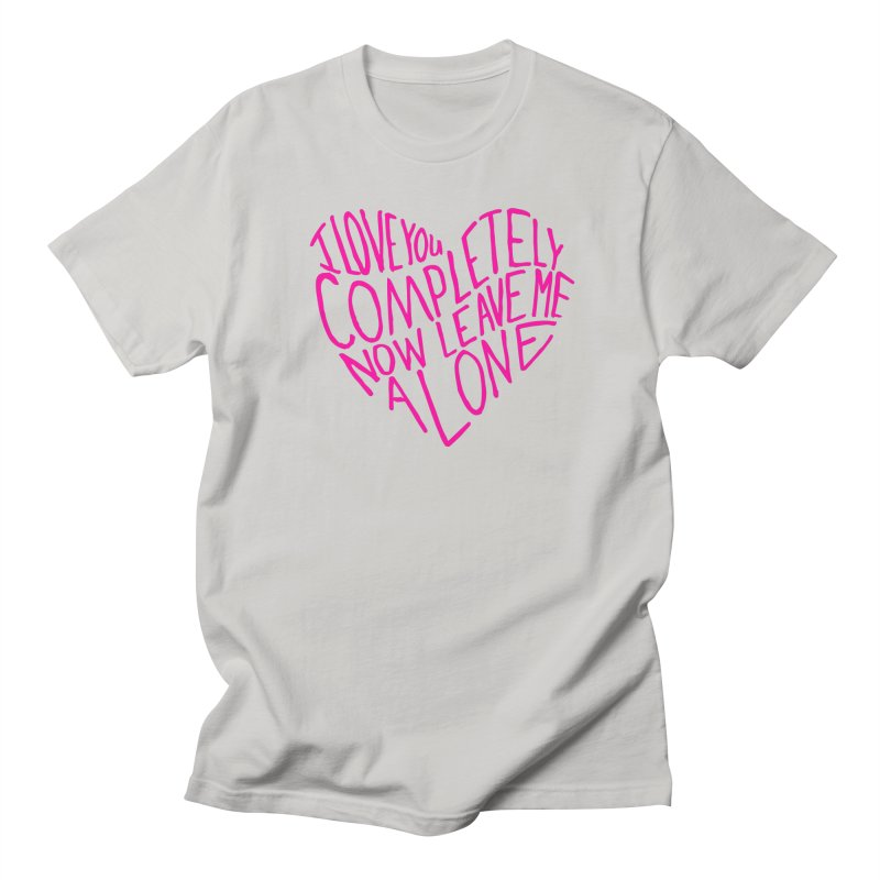 Introvert Love (Pink) Women's Regular Unisex T-Shirt by Lauren Things Store