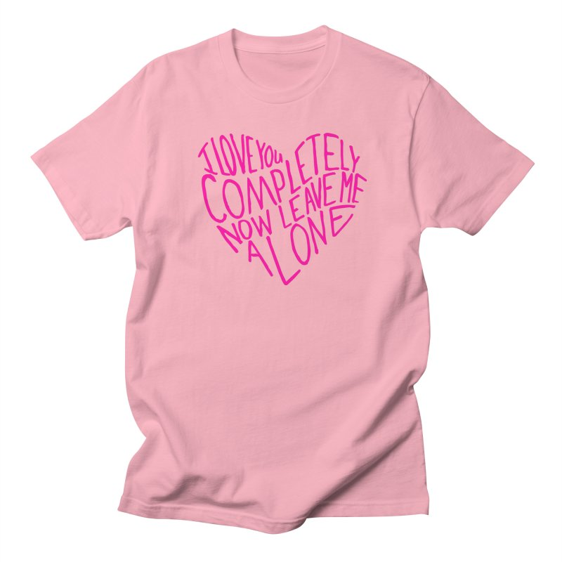 Introvert Love (Pink) Men's Regular T-Shirt by Lauren Things Store