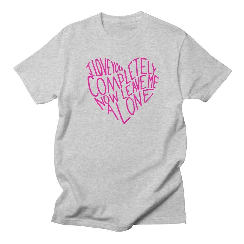 Introvert Love (Pink) Men's Regular T-Shirt by Lauren Things Store
