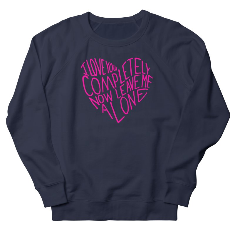 Introvert Love (Pink) Women's French Terry Sweatshirt by Lauren Things Store