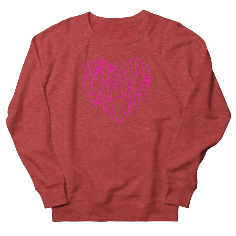 Introvert Love (Pink) Men's French Terry Sweatshirt by Lauren Things Store