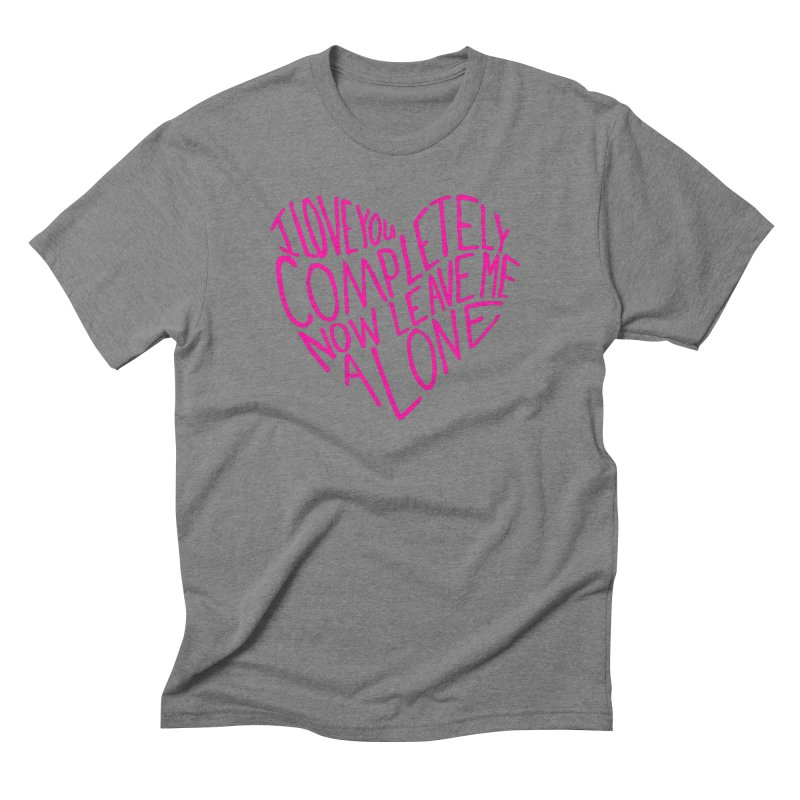 Introvert Love (Pink) Men's Triblend T-Shirt by Lauren Things Store