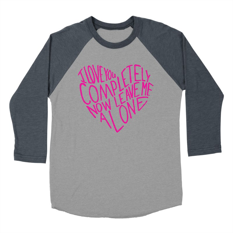 Introvert Love (Pink) Women's Baseball Triblend T-Shirt by Lauren Things Store