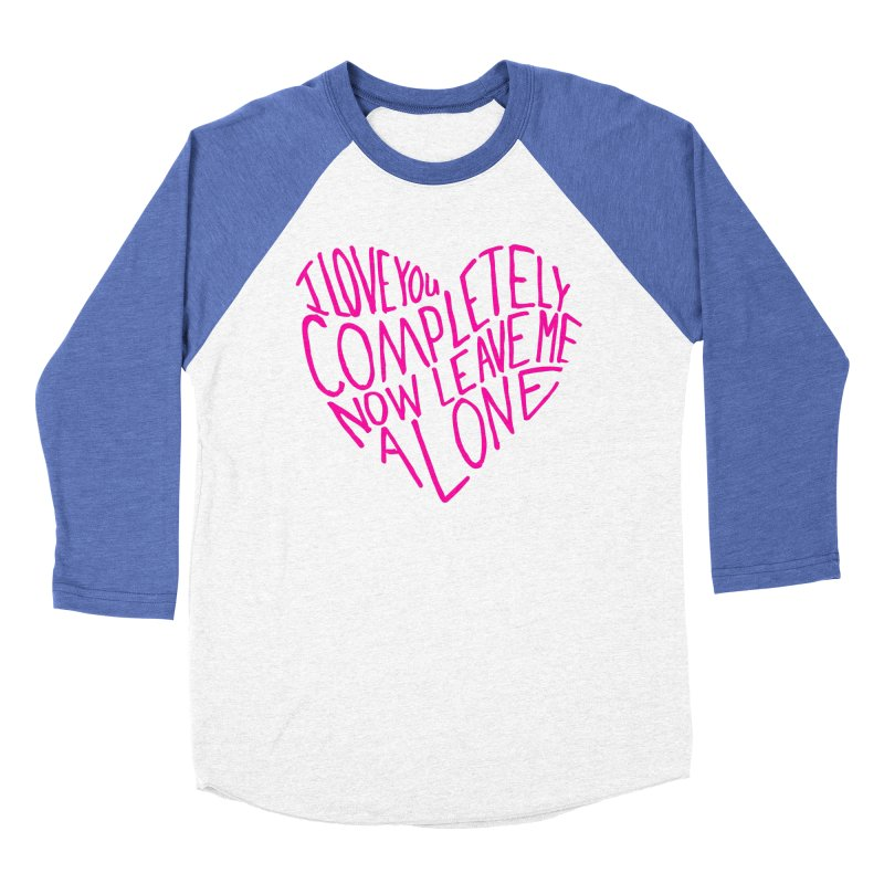 Introvert Love (Pink) Men's Baseball Triblend T-Shirt by Lauren Things Store