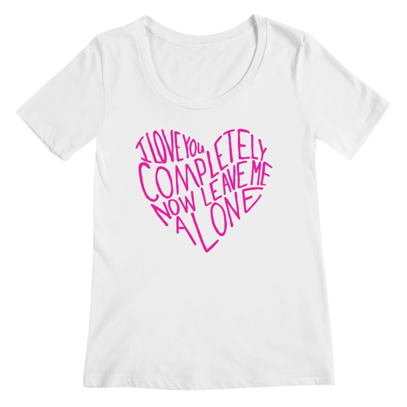 Introvert Love (Pink) Women's Regular Scoop Neck by Lauren Things Store