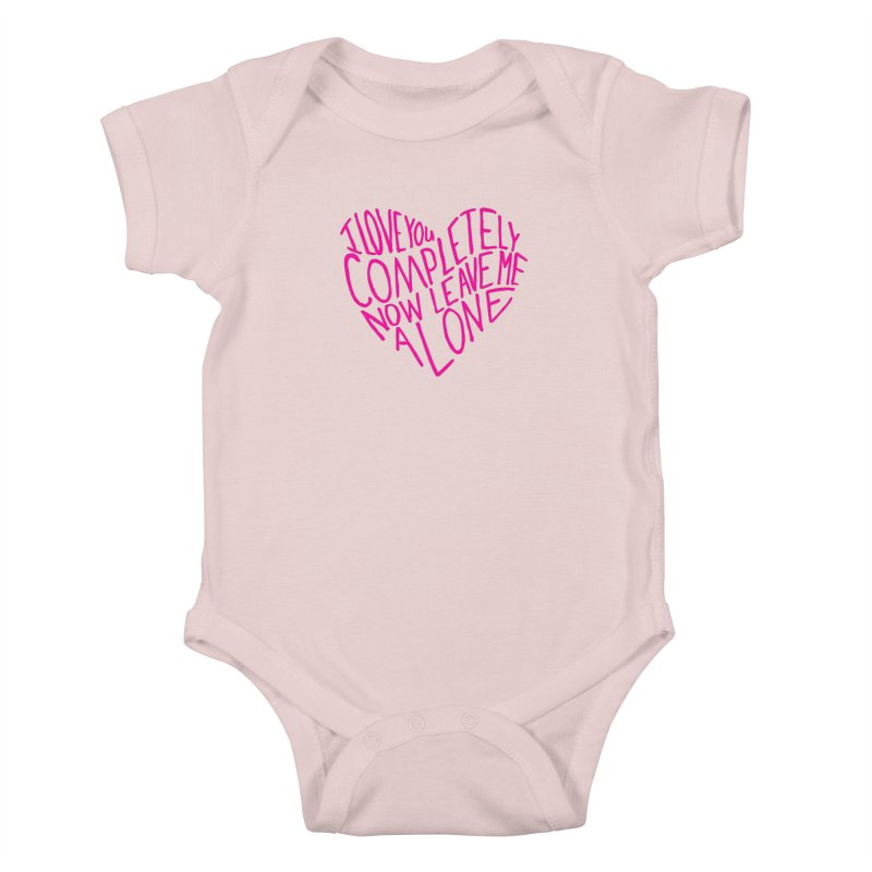 Introvert Love (Pink) Kids Baby Bodysuit by Lauren Things Store