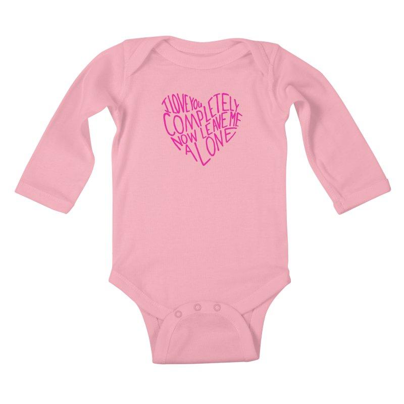 Introvert Love (Pink) Kids Baby Longsleeve Bodysuit by Lauren Things Store