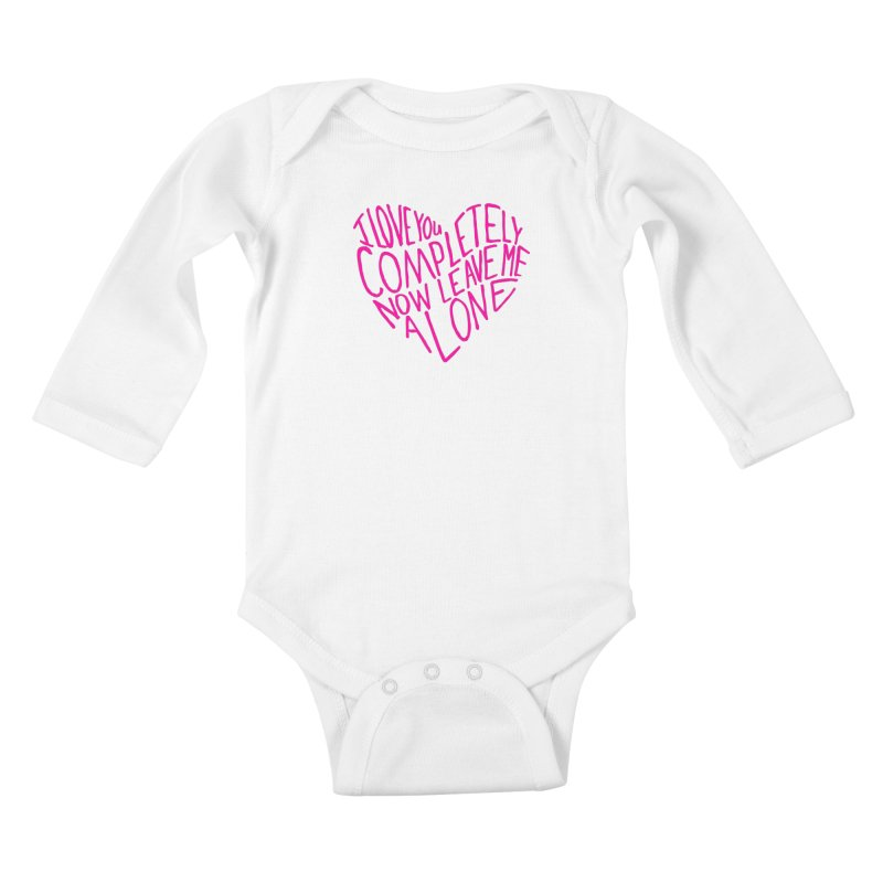 Introvert Love (Pink) Kids Baby Longsleeve Bodysuit by Lauren Things Store