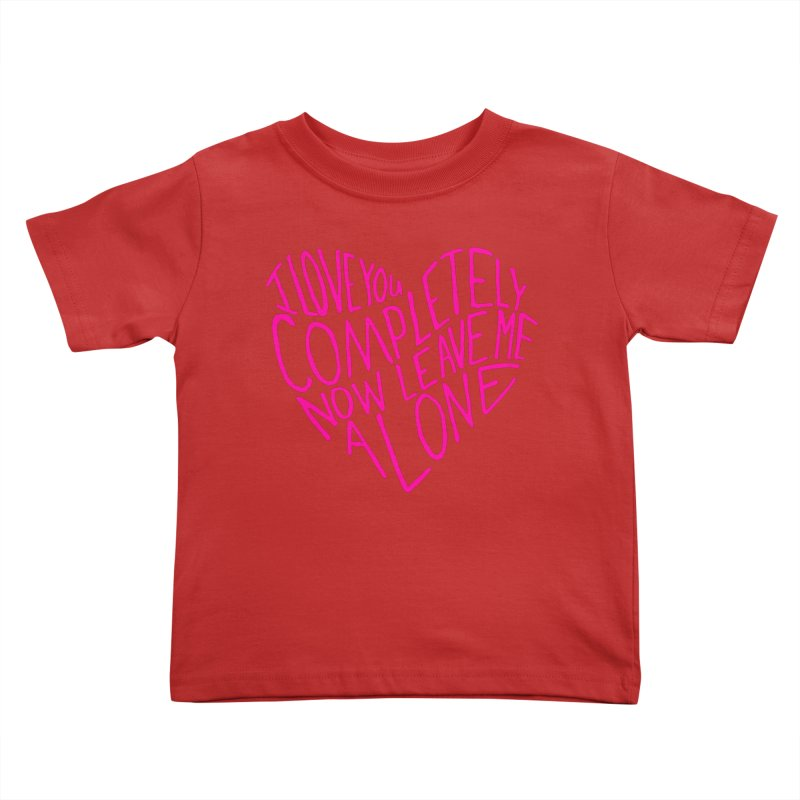 Introvert Love (Pink) Kids Toddler T-Shirt by Lauren Things Store