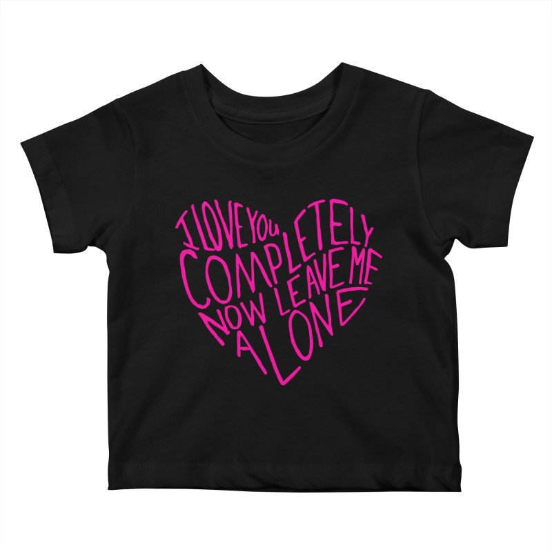 Introvert Love (Pink) Kids Baby T-Shirt by Lauren Things Store