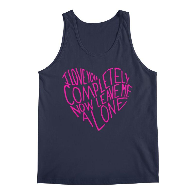 Introvert Love (Pink) Men's Regular Tank by Lauren Things Store