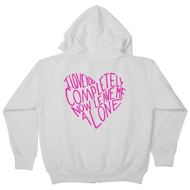 Introvert Love (Pink) Kids Zip-Up Hoody by Lauren Things Store