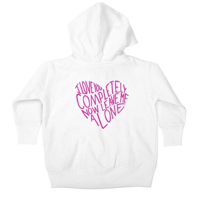 Introvert Love (Pink) Kids Baby Zip-Up Hoody by Lauren Things Store