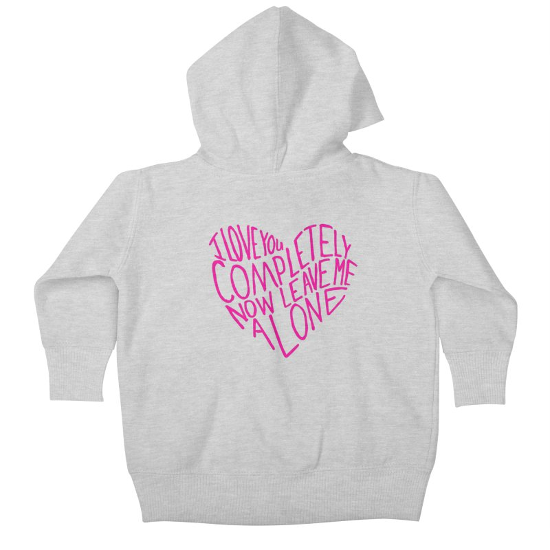 Introvert Love (Pink) Kids Baby Zip-Up Hoody by Lauren Things Store
