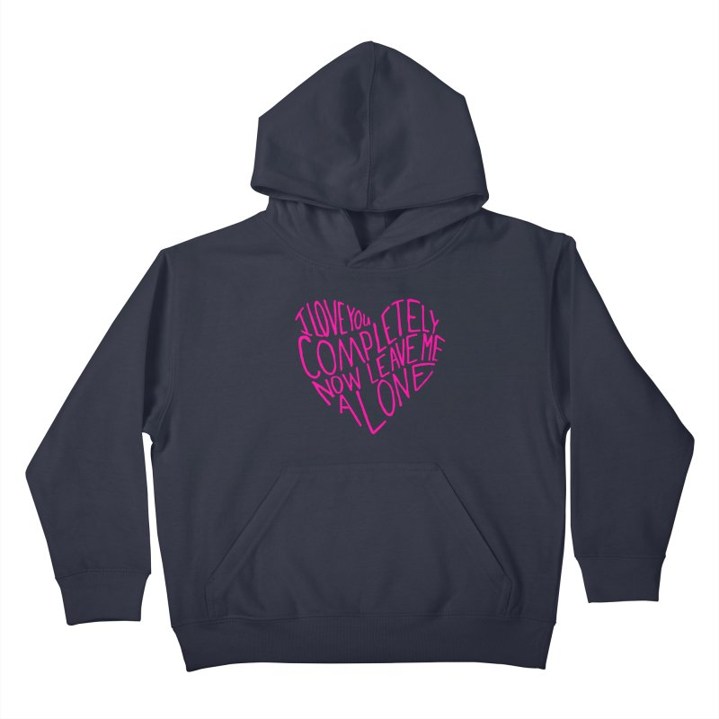 Introvert Love (Pink) Kids Pullover Hoody by Lauren Things Store