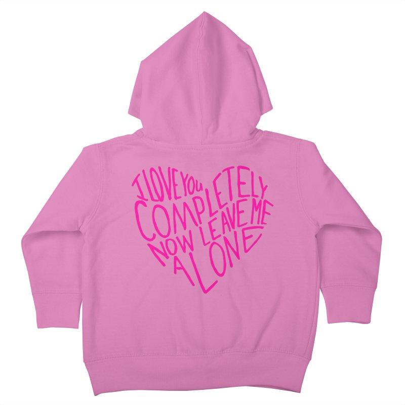 Introvert Love (Pink) Kids Toddler Zip-Up Hoody by Lauren Things Store