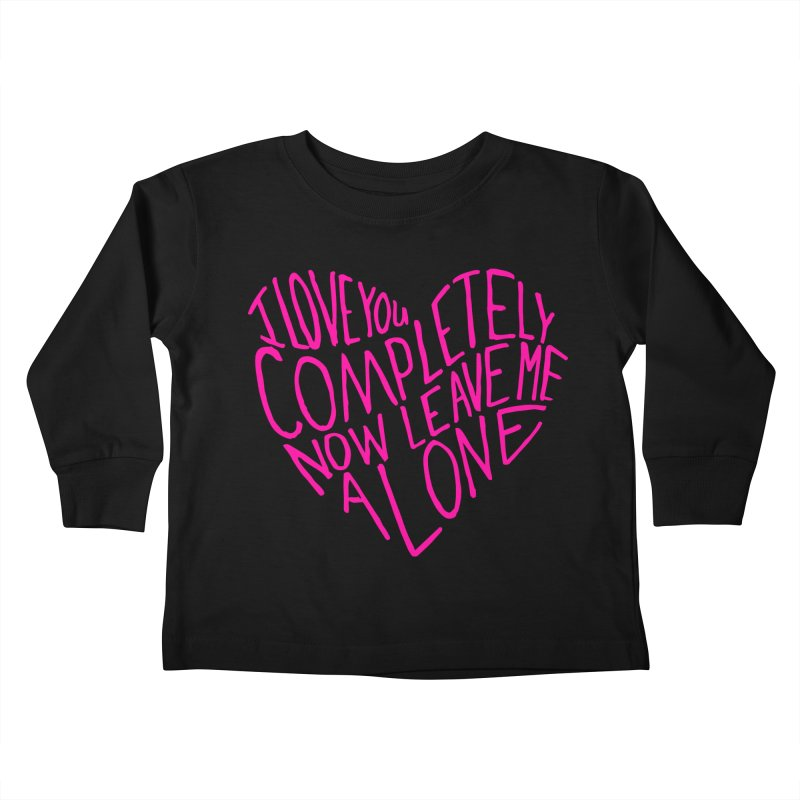 Introvert Love (Pink) Kids Toddler Longsleeve T-Shirt by Lauren Things Store