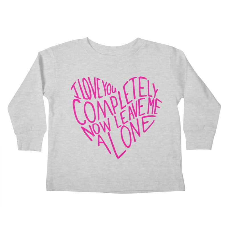 Introvert Love (Pink) Kids Toddler Longsleeve T-Shirt by Lauren Things Store