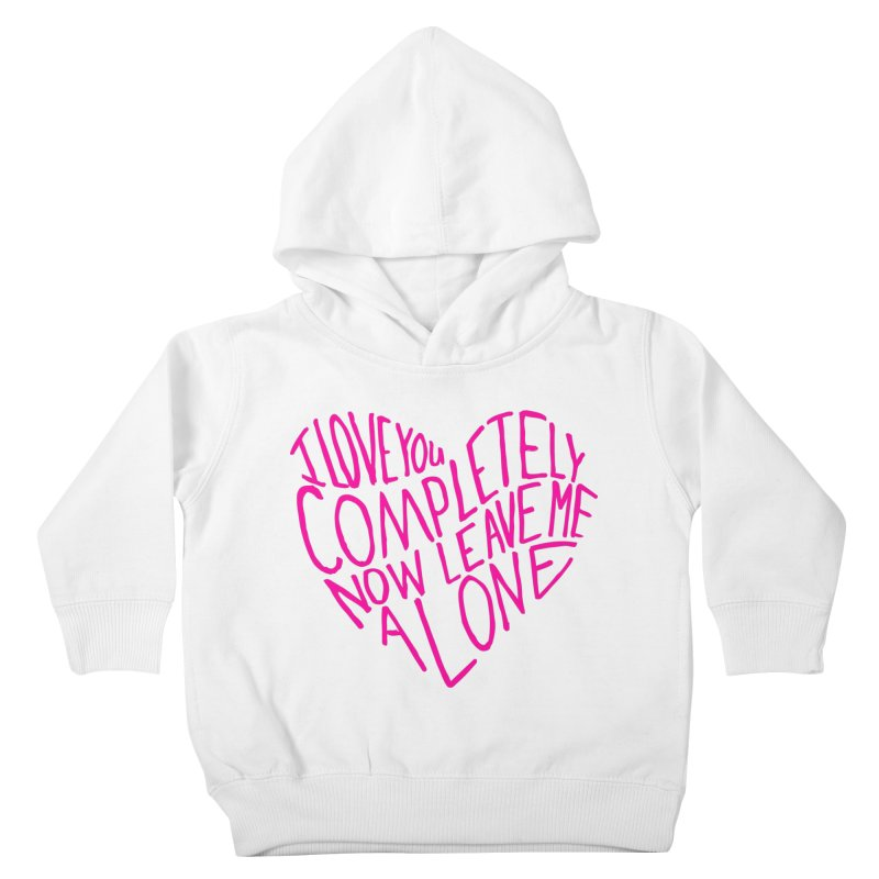 Introvert Love (Pink) Kids Toddler Pullover Hoody by Lauren Things Store