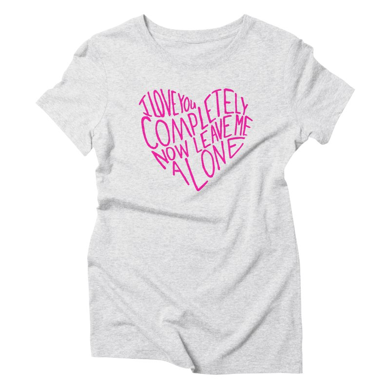 Introvert Love (Pink) Women's T-Shirt by Lauren Things Store