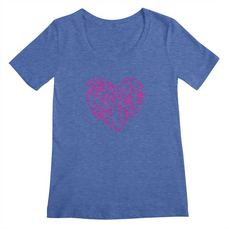 Introvert Love (Pink) Women's Scoopneck by Lauren Things Store