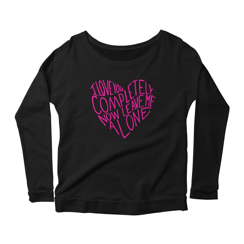 Introvert Love (Pink) Women's Longsleeve Scoopneck  by Lauren Things Store
