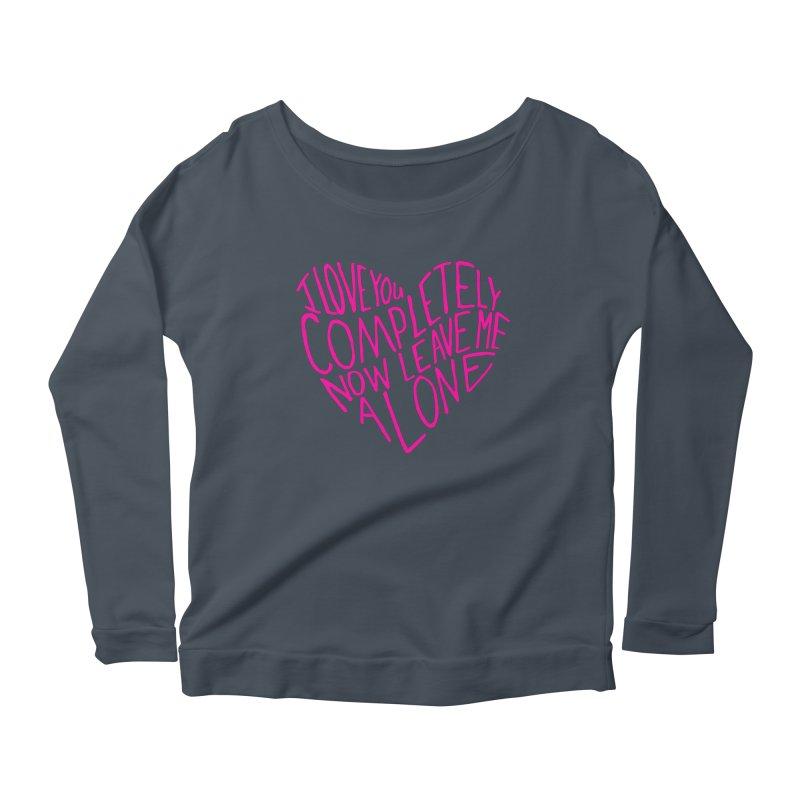 Introvert Love (Pink) Women's Longsleeve Scoopneck  by Lauren Things Store