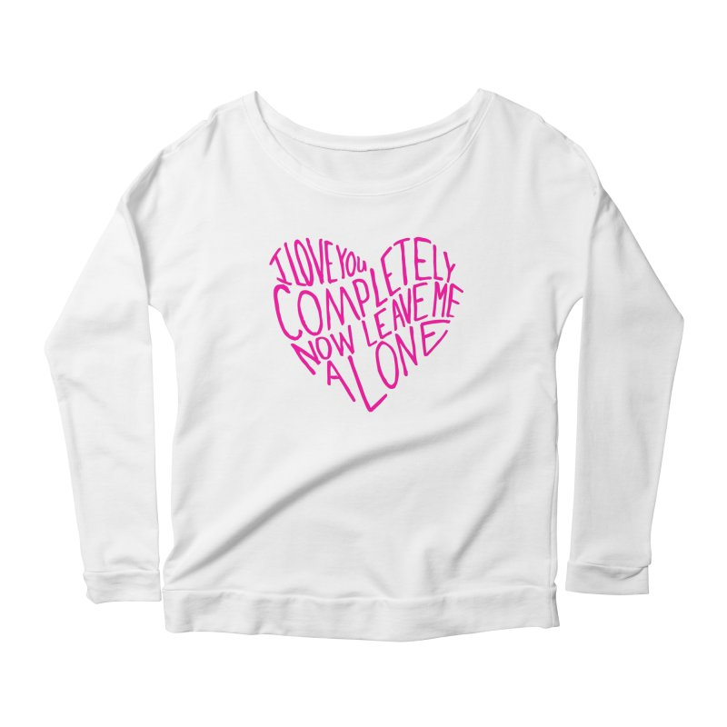 Introvert Love (Pink) Women's Scoop Neck Longsleeve T-Shirt by Lauren Things Store