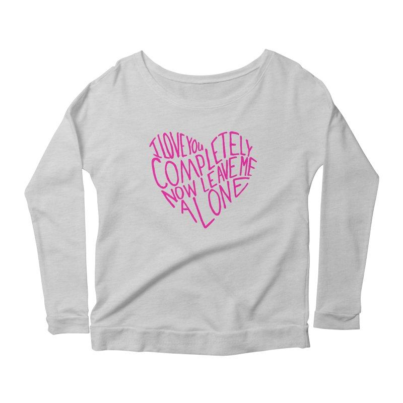 Introvert Love (Pink) Women's Scoop Neck Longsleeve T-Shirt by Lauren Things Store