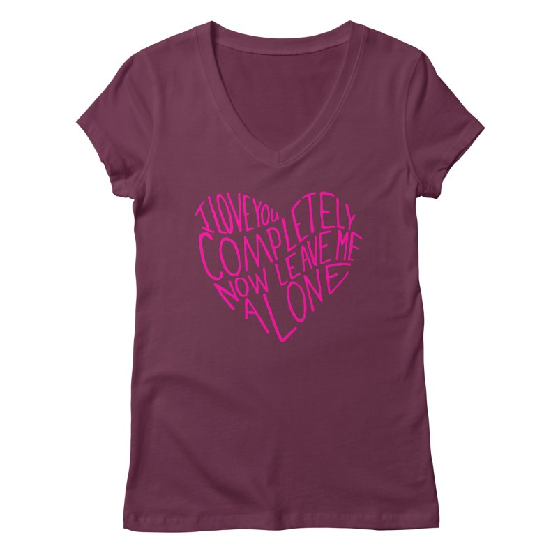 Introvert Love (Pink) Women's V-Neck by Lauren Things Store