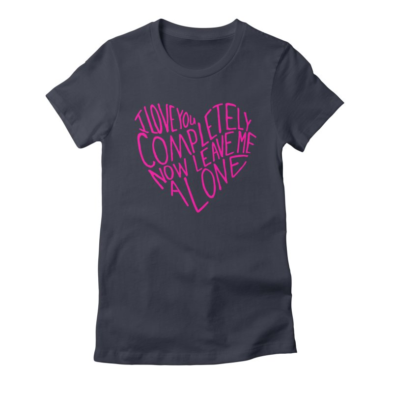 Introvert Love (Pink) Women's Fitted T-Shirt by Lauren Things Store