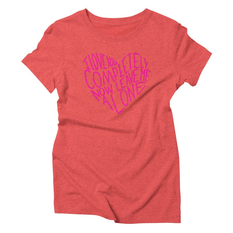Introvert Love (Pink) Women's Triblend T-Shirt by Lauren Things Store