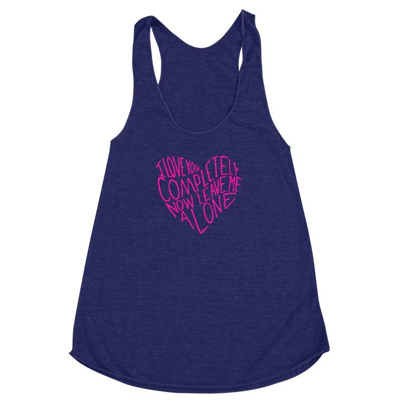 Introvert Love (Pink) Women's Racerback Triblend Tank by Lauren Things Store