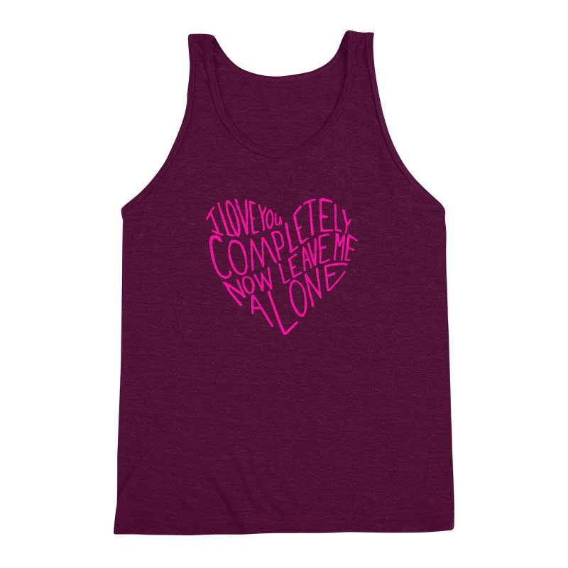 Introvert Love (Pink) Men's Triblend Tank by Lauren Things Store