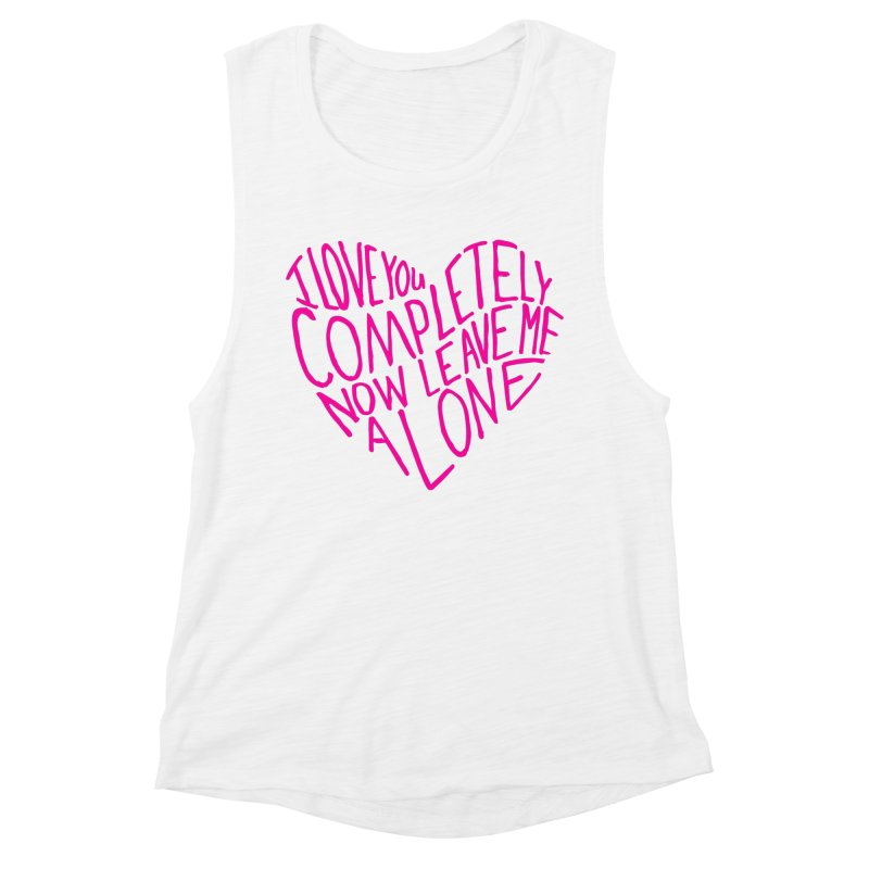 Introvert Love (Pink) Women's Muscle Tank by Lauren Things Store
