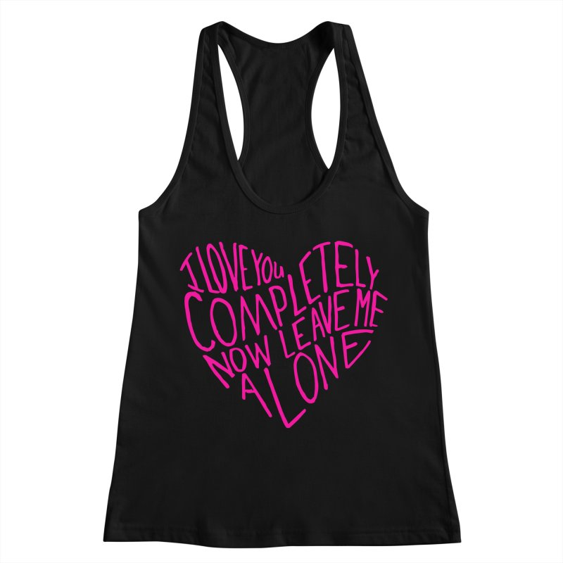 Introvert Love (Pink) Women's Racerback Tank by Lauren Things Store